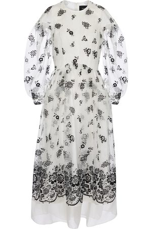 Simone Rocha Embroidered organza midi dress