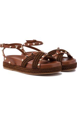 VALENTINO GARAVANI Rockstud Torchon espadrille sandals