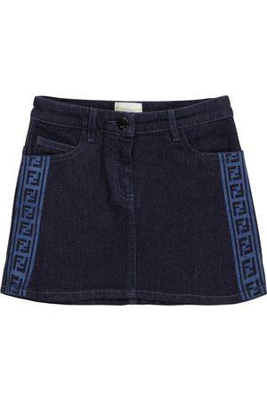 Fendi FF stretch-denim skirt