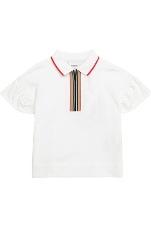 Burberry Icon Stripe cotton piqué polo shirt