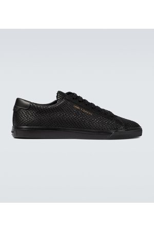 Saint Laurent Andy leather tennis sneakers
