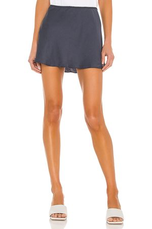 L'Academie The Kuz Mini Skirt in Navy.