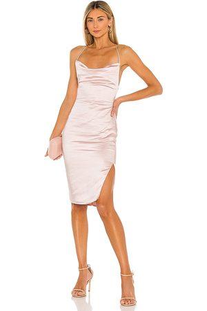 superdown Billie Drape Midi Dress in Blush.