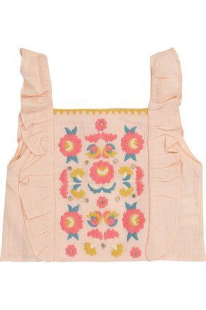 Louise Misha Hadiya embroidered organic cotton top