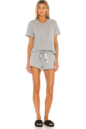 Flora Nikrooz Blaire Short Lounge Set in Grey.