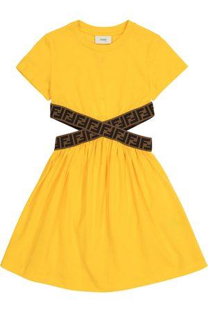 Fendi FF cotton jersey dress