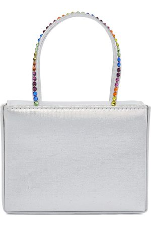 Amina Muaddi Gilda Super Mini embellished satin tote