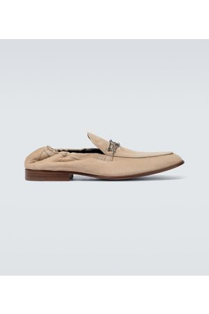 Lanvin Men Loafers - Suede loafers with metal detail