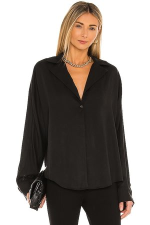 L'Academie Button Front Blouse in .