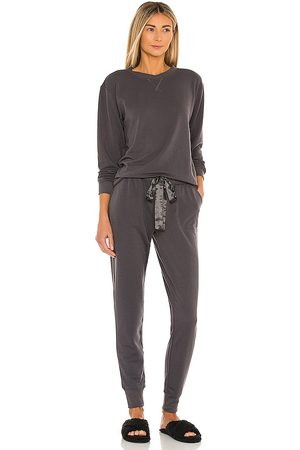 Flora Nikrooz Blaire Long Lounge PJ Set in Charcoal.