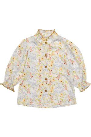 PAADE Viola floral satin blouse