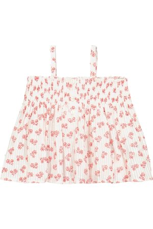 BONPOINT Tops - Baby Abricot floral cotton top