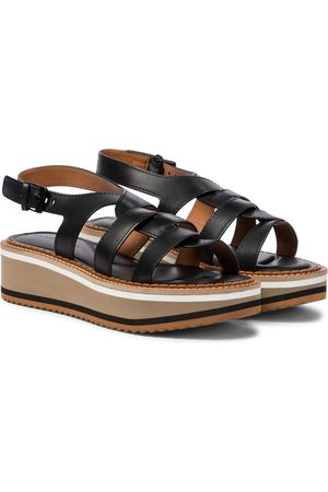 Robert Clergerie Filoe leather platform sandals