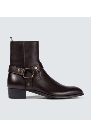 Saint Laurent Wyatt harness Chelsea boots