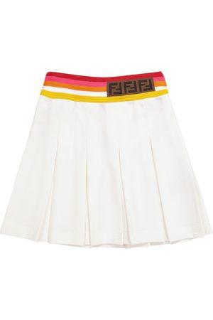 Fendi Pleated cotton skirt