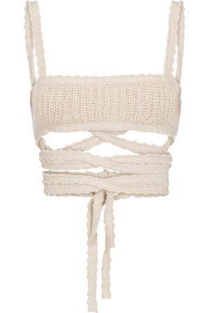 Alanui Cacti cotton knit bralette