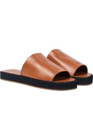 Robert Clergerie Gao leather slides