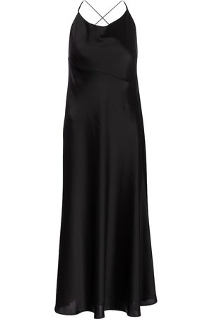 GALVAN Serena satin midi dress