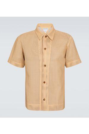 Bottega Veneta Perforated leather shirt