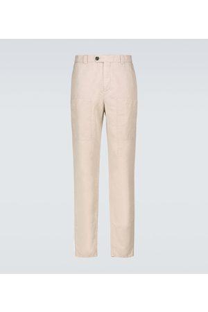 Brunello Cucinelli Linen and cotton cargo pants