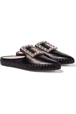 Roger Vivier RV Lounge leather slippers
