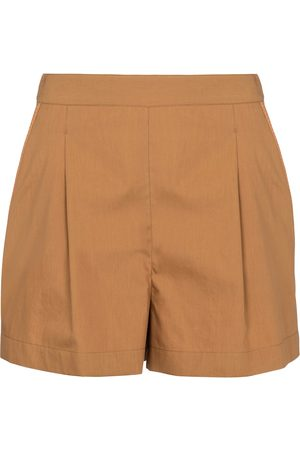 Salvatore Ferragamo High-rise cotton and silk shorts