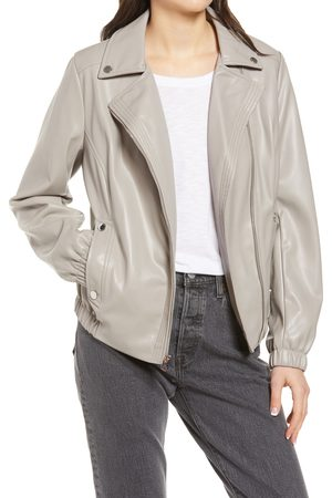 French Connection Women's French Connectioon Asymmetrical Faux Leather Moto Jacket