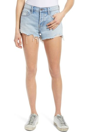 HIDDEN JEANS Women's Nonstretch Ripped Cutoff Denim Shorts