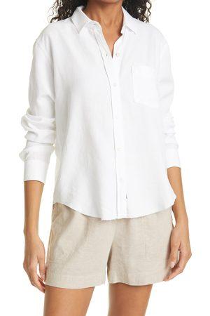 Rails Women's Ingrid Raw Hem Long Sleeve Button-Up Shirt