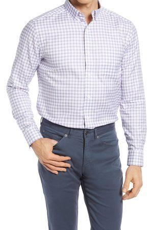 Johnston & Murphy Men's Check Button-Up Shirt