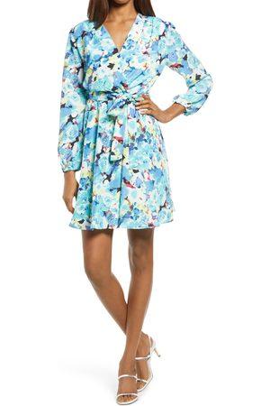 Fraiche by J Women's Miso Floral Long Sleeve Minidress