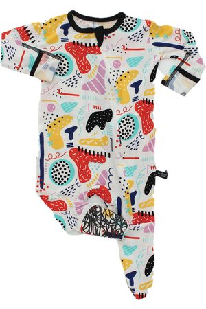 Peregrine Infant Girl's Modern Art Fitted One-Piece Pajamas