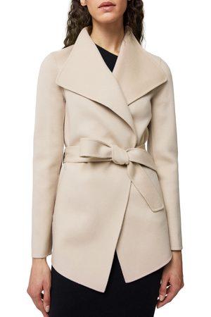 Mackage Women's Azara Water Resistant Wool & Leather Wrap Coat