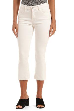 Mavi Women's Anika High Waist Raw Hem Crop Flare Jeans