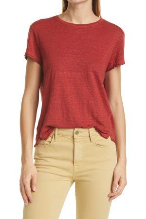 FRAME Women's Easy True Organic Linen T-Shirt