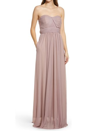 BIRDY GREY Women's Chicky Convertible Neck Tulle Gown