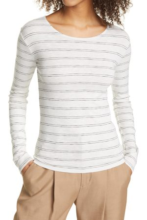 Vince Women's Pinstripe Long Sleeve Tee