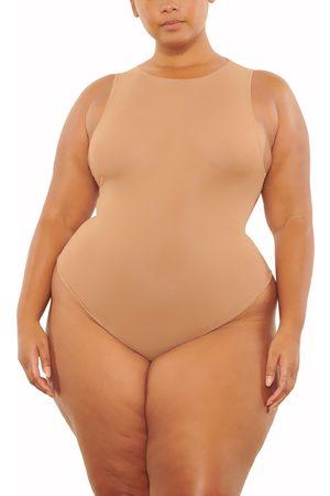 SKIMS Women's Jelly Sheer Crewneck Thong Bodysuit