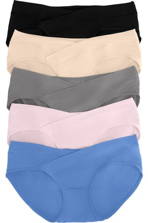 KINDERED BRAVELY Women's Kindred Bravely Assorted 4-Pack Under The Bump Maternity Briefs