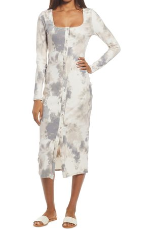 Fourteenth Place Women's Square Neck Long Sleeve Midi Dress