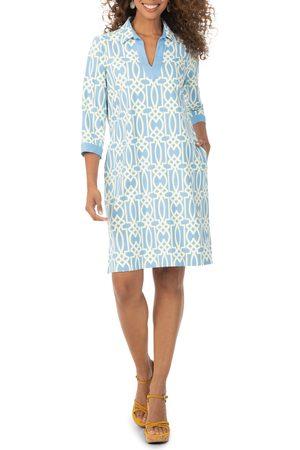 Foxcroft Women's Angel Geo Print Jersey Shirtdress