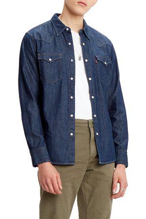 Levi's Men Denim - Men's Barstow Standard Fit Denim Western Shirt