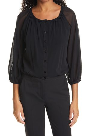 FUZZI Women's Blouson Sleeve Cardigan