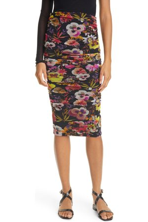 FUZZI Women's Floral Ruched Tulle Skirt