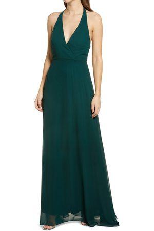 BIRDY GREY Women's Moni Convertible Halter Neck Chiffon Gown