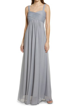 BIRDY GREY Women's Maria Convertible Sleeve Tulle Gown