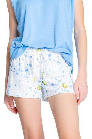 P.J.Salvage Women's Smiley Tie Dye Lounge Shorts