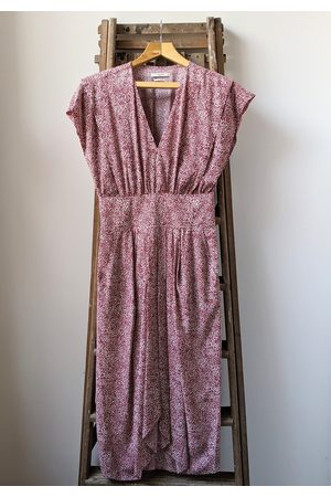 Isabel Marant Omeya Polka Dot Midi Dress