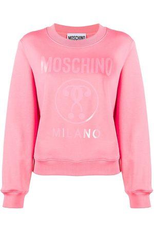 Moschino Women Sweatshirts - WOMEN'S A171805271207 FUCHSIA COTTON SWEATSHIRT