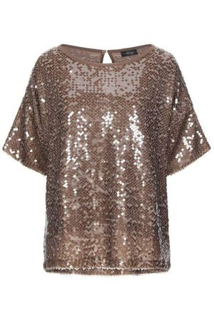 OTTOD'AME Women Tops - Lum Bronze Sequin Top
